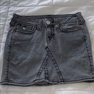 True Religion denim mini skirt Size 27